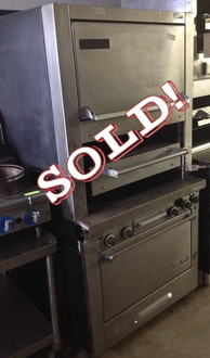 GARLAND BROILER W/ FINISHING AND STANDARD OVEN - SOLD!