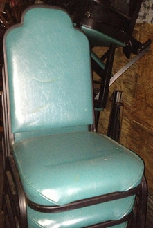 BLUE PADDED CHAIR