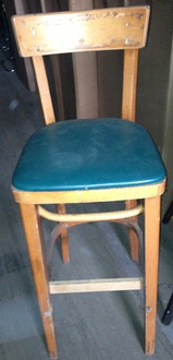USED BAR STOOL WITH PADDED SEAT