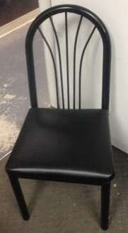 BLACK CHAIR WITH PADDED SEAT