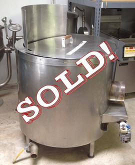 "Used-Bagel kettle, high efficiency 2-ring burner, heavy gauge stainless steel, 40 gallon capacity, removable tanke, Insulated with 3″ mineral wool, Removable perforated tray, 1-1/2″ DIA stainless steel drain, 6″ – 7-1/2″ adjustable legs, Meets ETL standards 175,000 BTU, set for gas, 35"" diameter x 38""H(+12"" for shield)"