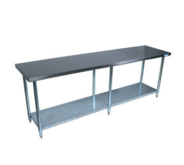 STAINLESS STEEL WORK TABLE NEW Gillette Restaurant Equipment - 8ft stainless steel table