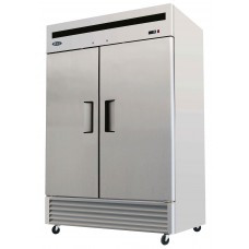 B-Series Reach-In Refrigerator, two-section, self-contained refrigeration, 46.0 cu. ft. capacity, 33° to 45°F temperature range, (2) locking hinged self-closing doors, (6) adjustable shelves, ventilated refrigeration, interior lighting, automatic evaporation, digital temperature control, air defrost, stainless steel interior & exterior, galvanized steel back, bottom mounted refrigeration, 590 watts, 115v/60/1-ph, 6.5 amps, 1/3 HP, cETLus, ETL, CE, ENERGY STAR®