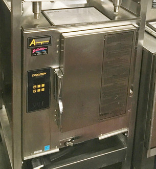 "ACCUTEMP E62083D170 Connectionless Evolution™ Boilerless, Convection Steamer featuring Steam Vector Technology, counter top, electric, holds (6) 12""x 20""x 2-1/2"" deep pans, Digital Controls, NO water and drain connection required, warranty NOT voided by water quality, NO water filtration required, 15kw, 208/60/3ph, 5' cord & NEMA 15-50P, ENERGY STAR®."