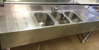 3 BAY BAR SINK 72""
