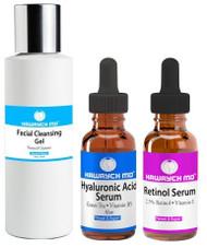Hawrych MD 2.5% Retinol Hyaluronic Acid Facial Cleansing Gel Set