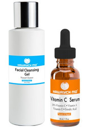 Hawrych MD 20% Vitamin C Serum Facial Cleansing Gel Set