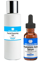 Hawrych MD Hyaluronic Acid Serum Facial Cleansing Gel Set