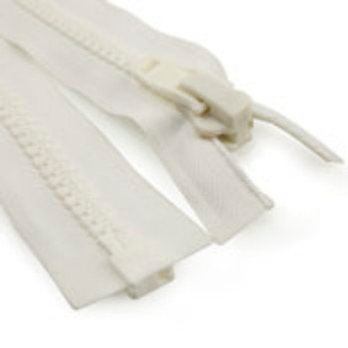Image for #10 Marine Zipper White 48 At Fabric Warehouse