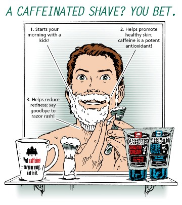 A Caffeinatd shave? You bet!