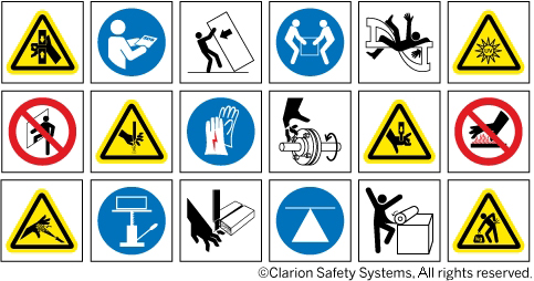 Custom Symbols And Illustrations Clarion Safety Systems