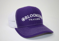 Purple Cap with White Bloomer Trailers Logo