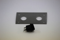 Dual Switch Plate   SS (Rocker Switch Not Included)