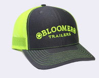 Charcoal Cap with Neon Green Bloomer Trailers Logo