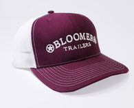 Maroon Cap with White Bloomer Trailers Logo