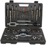 "45 Piece Carbon Steel NC and NF Tap and Die Set, Sizes 1/4-20 to 1""-14"