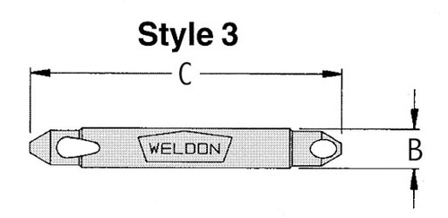 "WELDB-8 1/8""-15/64"" 90 degree Deburring Tool"