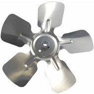 "Packard A65225, Small Aluminum Fan Blade With Hub 6"" Diameter 1/4"" Bore 30  Pitch CCW Rotation Discharge Hub Location"