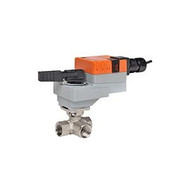 "Belimo B313+LRQX24-1, 3-way CCV, SS Trim, 1/2"", CV 47 CCV w/ Stainless Steel Ball and Stem"