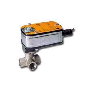 "Belimo B315L+LF120-S US, 1/2"" 3W BV, L-valve, CV= 64 with Spring Return, 35 in-lb ,On/Off,120V w/ switch"