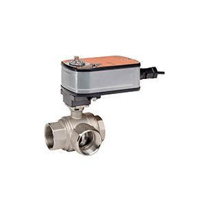 "Belimo B322+LF24-SR US, 3-way control ball valve Internal thread NPT 1"", DN 25, kvs 6,3"