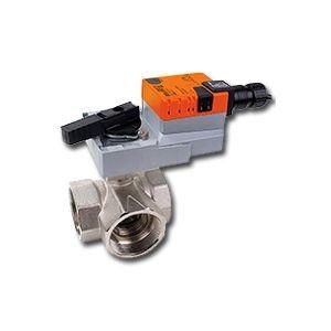 """Belimo B340L+ARX24-MFT, 1 1/2"""" 3W BV, L-valve, CV=57 with Non-Spring Return,180 in-lb ,MFT, 24V"""