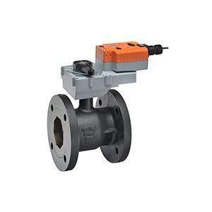 """Belimo B6600S-400+GKRX24-MFT, 2-way CCV,Flanged SS trim 6"""",CV400 Cast Iron body, stainless steel ball 250 F/120 C media temp, ANSI 125 Stainless steel disc"""