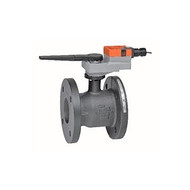 """Belimo B6600S-400+GRB120-3-5-14, 2-way CCV,Flanged SS trim 6"""",CV400 Cast Iron body, stainless steel ball 250 F/120 C media temp, ANSI 125 Stainless steel disc"""