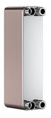 "SWEP B8T B8THx60-1P-SC-M, Brazed Plate Heat Exchanger, B8THx60/1P-SC-M 2x22U+2x3/4"" INT NPT"
