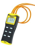 "General Tools DM8215 Digital Manometer with 36"" Tubing, 0 to 15 PSI, +/- Port, Back Light & RS232 Output"