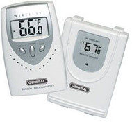 General Tools EMR813 3 Channel Capable Wireless Thermometer with Remote