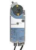 Siemens GCA1361P, OpenAir GCA Series Electric Damper Actuator, rotary, spring return, 160 lb-in (18 Nm), 24 Vac/dc, floating control, 90 sec run time, dual auxiliary switches, plenum rated