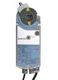 Siemens GCA1631P, OpenAir GCA Series Electric Damper Actuator, rotary, spring return, 160 lb-in (18 Nm), 24 Vac/dc, 0 to 10 Vdc control, 90 sec run time, adjustable span and offset, plenum rated