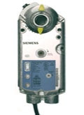 Siemens GMA1561P, OpenAir GMA Series Electric Damper Actuator, rotary, spring return, 62 lb-in (7 Nm), 24 Vac/dc, 2 to 10 Vdc control, 90 sec run time, position feedback, signal inversion, inverse acting, dual auxiliary switches, plenum rated
