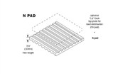 Vibro Acoustics N 33-65, N Vibration Isolation Pads, 800 lbs rated load
