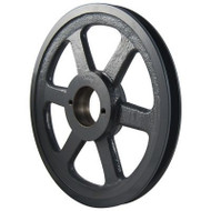 "Packard PBK36H, Single Groove Bushing Pulleys For 4L Or A Belts And 5L Or B Belts 375""OD"