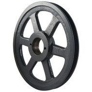 "Packard PBK55H, Single Groove Bushing Pulleys For 4L Or A Belts And 5L Or B Belts 525""OD"