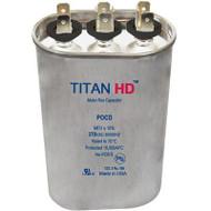 Titan HD POCD505A, 370 Volt Oval Run Capacitor 50+5 MFD