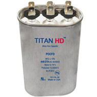 Titan HD POCFD605A, 440 Volt Oval Run Capacitor 60+5 MFD
