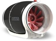 VORTEX S-800, Inline Round Centrifugal Fans 8'', 115V/1HP/60Hz, 728 CFM
