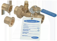 "HCi Terminator B SS Balance & Shutoff Valve with Stainless Steel Ball and Stem, TBSS-E, 1-1/2"", 57-38 GPM Range"