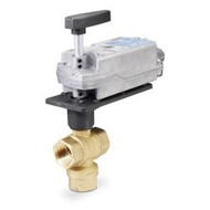 "Siemens 171F-10360S, 599 Series 3-way, 3/4"", 16 CV Stainless Steel Ball Valve Coupled with 3-Postion Floating, Spring Return Actuator"