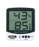 General Tools DTH03A Digital Temperature & Humidity Monitor with Jumbo Display, F/C (White)