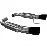 "KOOKS AXLE-BACK EXHAUST OEM INLET TO 3"" MUFFLERS AND BLACK TIPS 2015-UP MUSTANG GT 5.0L COYOTE 11516210"
