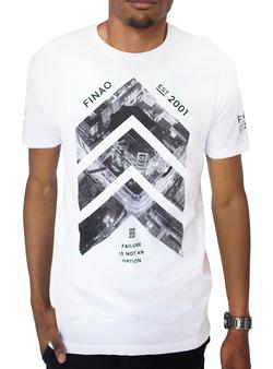 City Scape Tee-  White 100% Ringspun Cotton Crew Neck