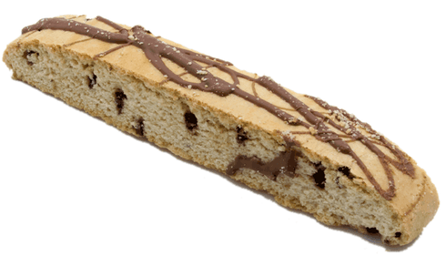 This biscotti cookie reminds you of homemade chocolate chip cookies.