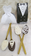 Bride & Groom Java Spoons Wedding Favors
