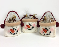 Snowman Bag Mini Biscotti Gift