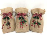 Holiday Burlap Bags - 4 oz. Truly Vanilla MicroMini Bites