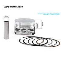 YUMINASHI 62MM TUNER EDITION PISTON SET (13MM PIN) (13100-013-620)